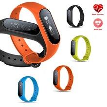0.87 »OLED Смарт-часы кровяное давление/сердечного ритма Мониторы фитнес-браслет Android IOS Смарт Группа Браслет Bluetooth SmartWatch