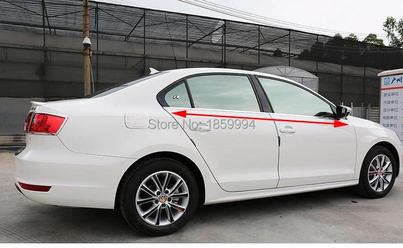 untuk 2012 2013 2014 2015 2016 VW jetta mk6 bawah bawah jendela trim - Suku cadang mobil - Foto 2
