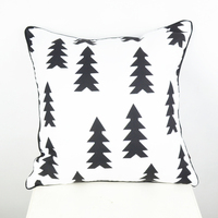 45 45 Cm Capa De Almofada Home Textile Black And White Christma Tree Cushion Cover Ikea