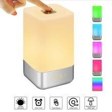 Wake Up Light Alarm Clock LED Digital Clocks Bedside Lamp Color Changing Night Lights Touch Conrol Sunrise Simulate Desk Clock недорого