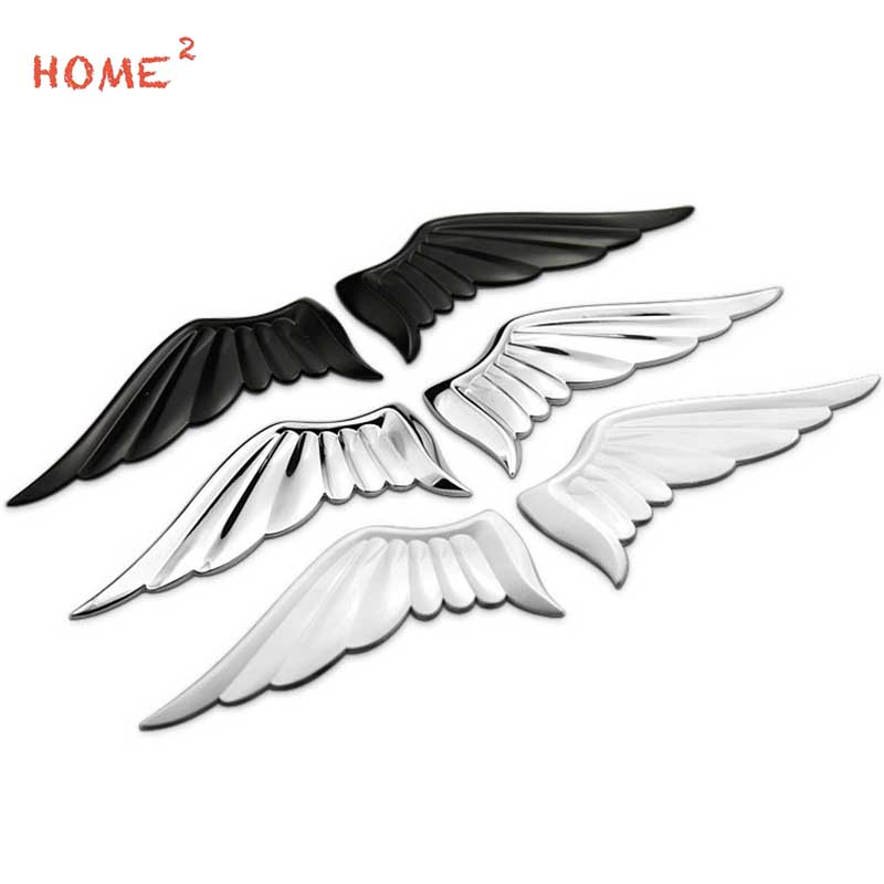 Wings Of Angel Car Stickers Metal Wings Car Decorative Stickers For BMW Ford Focus KIA Audi