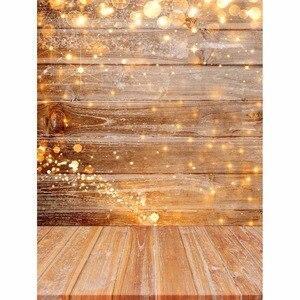Image 3 - Allenjoy Wood photography backdrop wedding Christmas bokeh glitter background photo studio child baby photophone photocall prop
