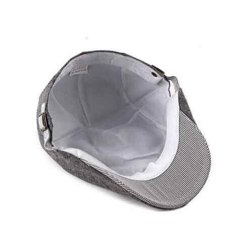 Fashion Kasual Pria Ivy Topi Kapas Tukang Koran Topi Golf Datar Mengemudi Sopir Topi Baret