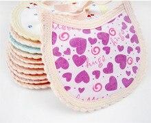 Envío gratis Kids Saliva baberos 10 pc/lot estilo colorido del bebé toallas Saliva montaje impermeable baberos infantiles del delantal Color de la mezcla