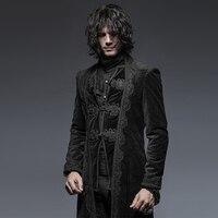 2017, Новая мода готический великолепный ретро Стиль цветочным узором длинные пальто Стимпанк Джентльмен классические длинные куртки Лидер