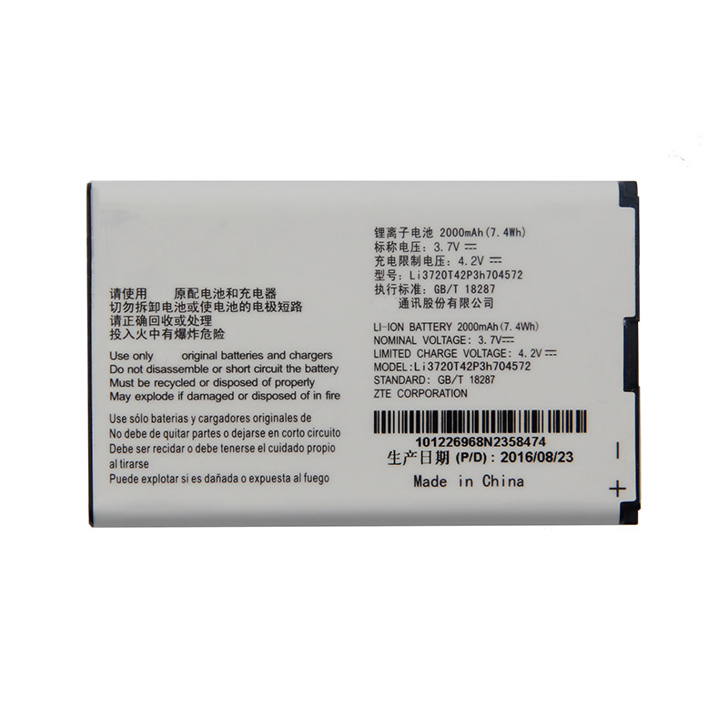 Original High Capacity Li3720T42P3h704572 Phone <font><b>battery</b></font> For <font><b>ZTE</b></font> MF90M MF91 <font><b>MF90</b></font> 4G WIFI Router 2000mAh image