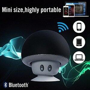 Image 5 - Mini alto falante bluetooth portátil, mini alto falante com microfone estéreo à prova dágua, cogumelo para celular e computador