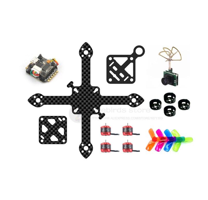 DIY Super_F4 flytower FPV brushless indoor mini drone frame PNP kit 90mm pure carbon frame 16mm x 16mm 1000TVL 25MW VTX camera 90mm frame kit
