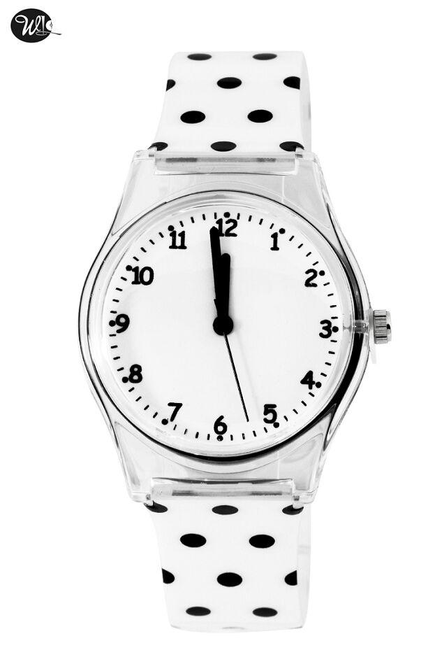 Waterproof brand WL Watch Dot Design Women Watches Round Dial Analog Wristwatch With Plastic Strap Gift