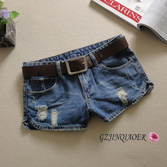 2016 летние джинсы женщин отверстие джинсы feminino хлопок placketing pantalones cortos mujer промывают шорты узкие джинсы