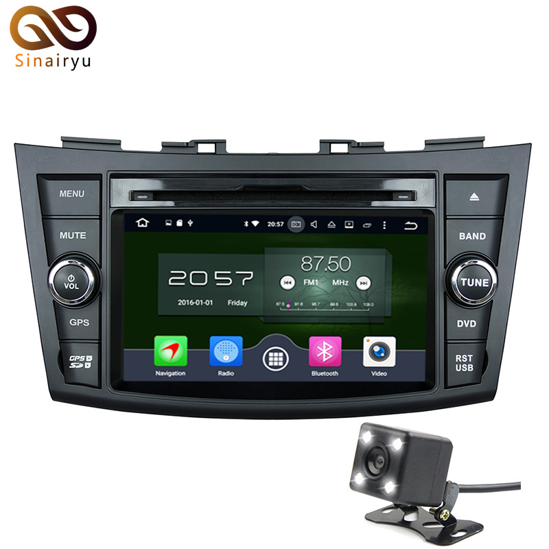 Sinairyu 7 Steering Wheel 2Din Car DVD Player Android 6 0 For Suzuki Swift font b
