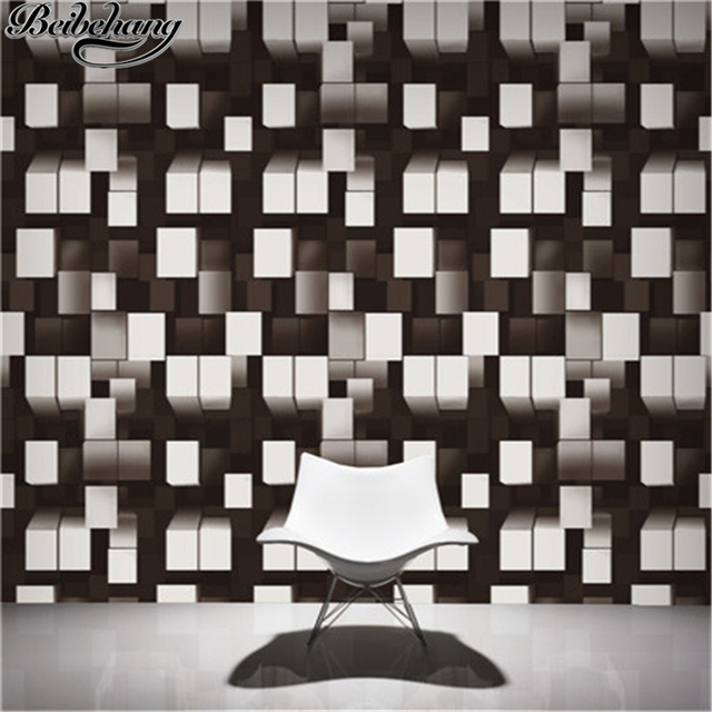 Beibehang High End 3d Stereo Living Room Wallpaper Modern Minimalist
