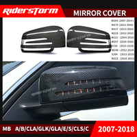mirror cover caps For Mercedes Mirror W204 W212 W207 W176 W218 dry Carbon Mirror cover for Mercedes A B C E S CLS GLK CLS Class