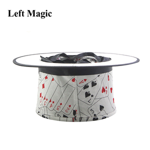 Image 5 - Folding Top Hat Spring Magic Tricks ( Black &  Playing Card Pattern )Appearing/Vanishing Objects Hat Stage Accessories Gimmick