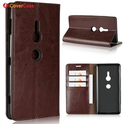 На Алиэкспресс купить чехол для смартфона luxury real genuine leather wallet case for sony xperia xz2 premium flip cover card slot stand protect case for xz2 compact