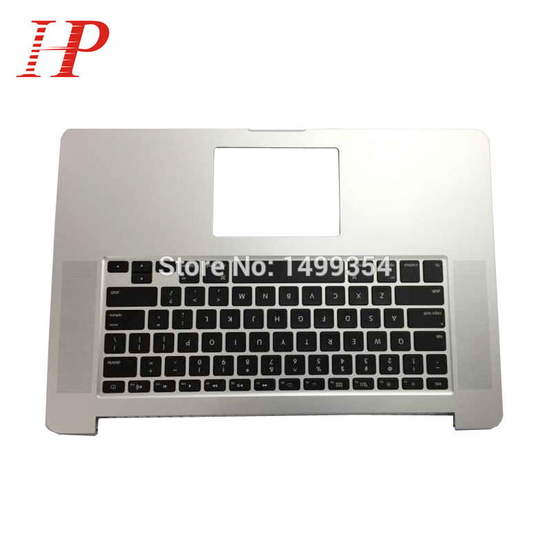 Original Palmrest Cover For Apple Macbook Retina 15'' A1398 Palm rest Top Case With US Keyboard 2015 Year neworig keyboard bezel palmrest cover lenovo thinkpad t540p w54 touchpad without fingerprint 04x5544