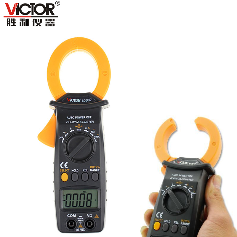 Victor VC6056C+ Digital Clamp meter AC/DC Clamp Meter 600A measuring capacitance/frequency/temperature  vc6056d digital ac dc clamp meter 600a refrigerant special