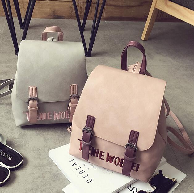 Fashion Women Backpack 2017 PU Leather Women Backpack College Wind Small Fresh Sweet Girl High Quality Travel Books Rucksack sweet college wind mini school bag high quality pu leather preppy style fashion girl candy color small casual backpack xa384b