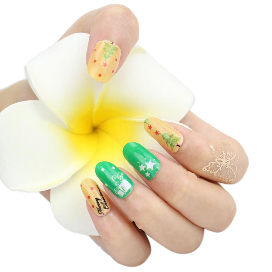 New fashion high quality Christmas Nail Art Transfer Stickers 3D Design Manicure Tips Decal Decoration Anne 30 pcs floral design manicure transfer nail art tips stickers decals 3d flowers beauty tickers for nails