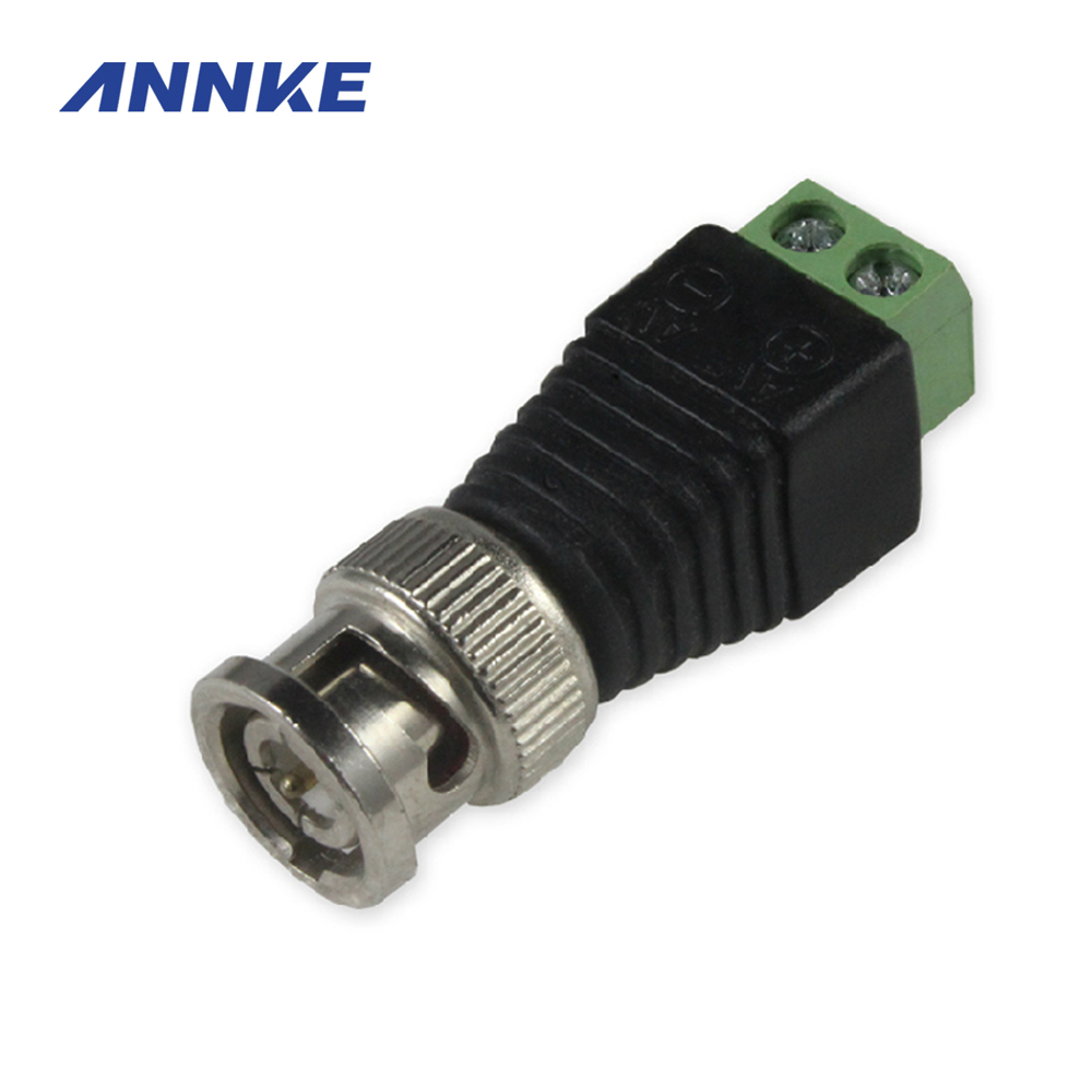 2016 Hot 10 Pcs Coaxial Coax CAT5 BNC Male Connector for Annke Coaxial CCTV Camera home security system 10 pcs lot cctv system solder less twist spring bnc connector jack for coaxial rg59 camera for surveillance accessories
