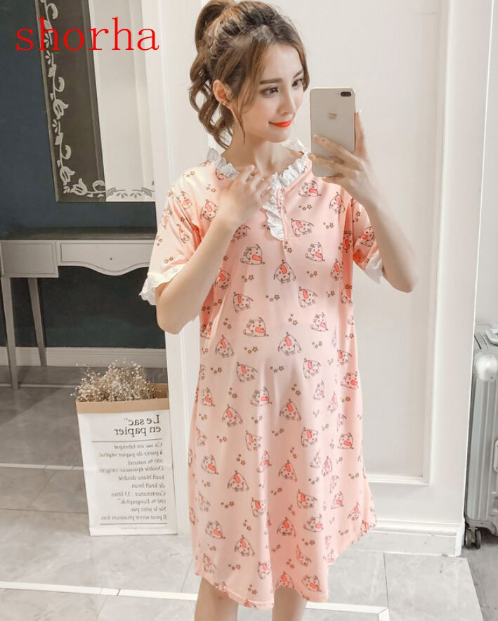Womens Nightdress Maternity Nightdress Nursing Nightdress Breastfeeding Sleepwear Pyjamas Nightgown