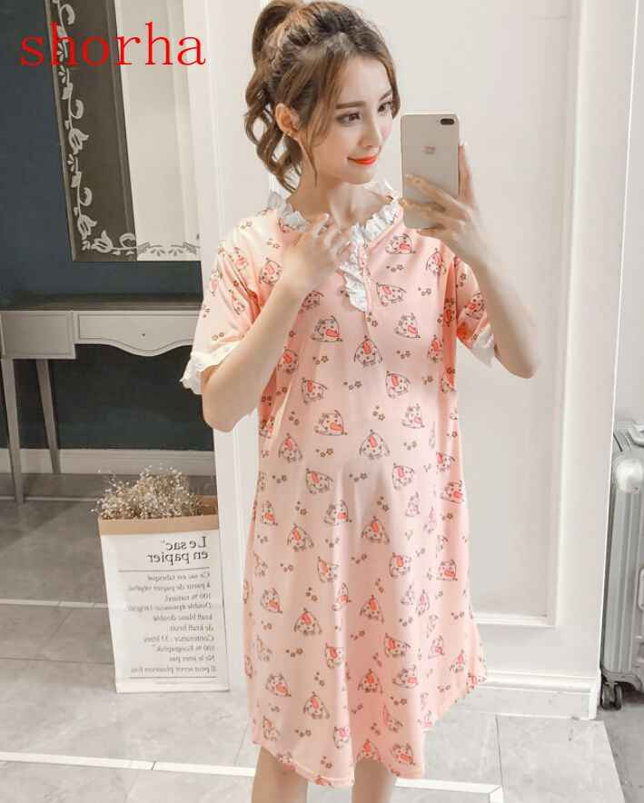 68635c6bc23 Detail Feedback Questions about BreastFeeding Summer Dress Nightdress For Pregnant  Women Go Out Lace Nursing Sleepwear Maternity Pajamas Clothes Nightgown ...