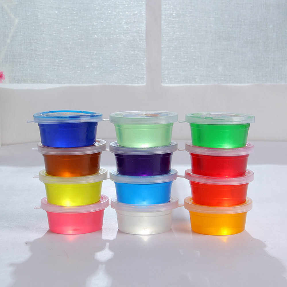 12Pcs slime Storage Containers Foam Ball Storage Cups Containers Lids plastic no leaks washable reusable handy Storage Box F139