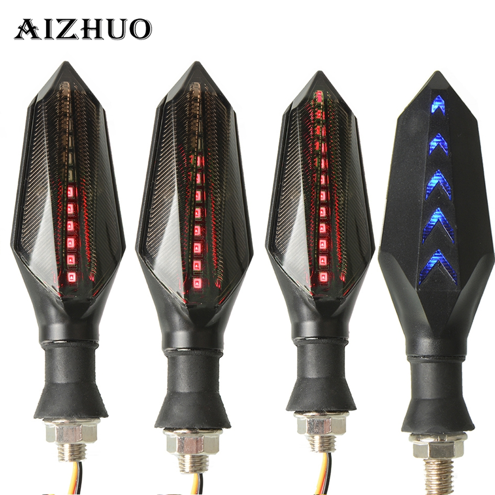 Motorcycle Turn Signal Warning Flowing Flashing Signal lights Led For HONDA DIO VFR 800 CB400 PCX 125 NC750X SHADOW 750 GL1800
