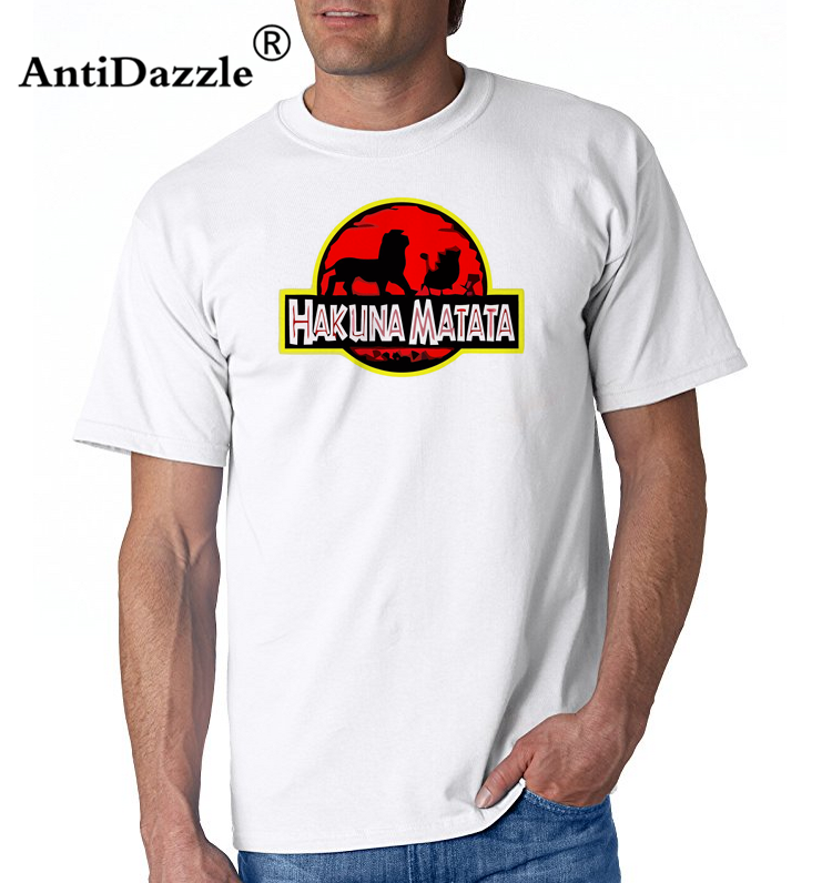aaf38c17 2018 harajuku Tees Hakuna Matata The Lion King Simba Pumbaa Timon in the  style of Jurassic