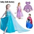 Frete grátis apenas 8.5 $! Elsa & Anna vestido da menina de varejo 2016 meninas Novas do bebê Vestidos de Princesa Menina Vestido de festa traje