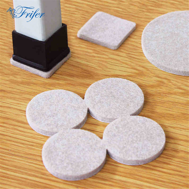 116pcs Thickened Felt Chair Pads For Furniture Feet Legs Wool Roving Felting Protect Hardwood Flooring Preventing