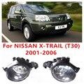 Для NISSAN X-TRAIL (T30) 2001-2006 Стайлинга Автомобилей Передний Бампер Галогенные Противотуманные Фары Высокая Яркость ПРОТИВОТУМАННЫЕ фары