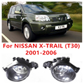 Para NISSAN X-TRAIL (T30) 2001-2006 Car Styling Luzes de Halogéneo de Nevoeiro Alto Brilho do Amortecedor Dianteiro FOG LÂMPADAS