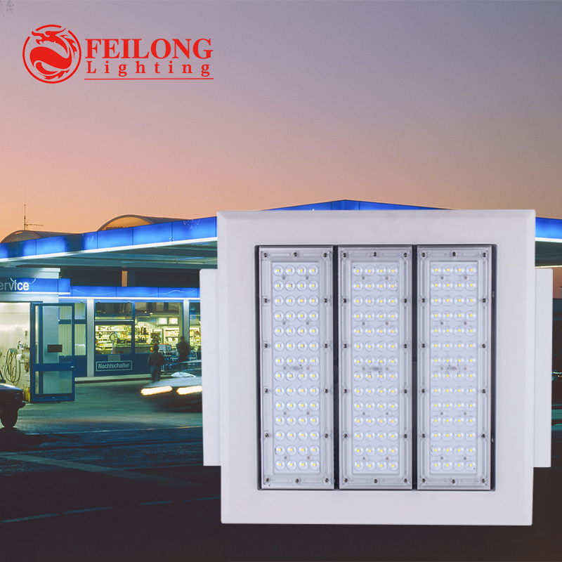 2017 New design driver box IP65 waterproof Meanwell driver 5year warranty 120w led gas station light