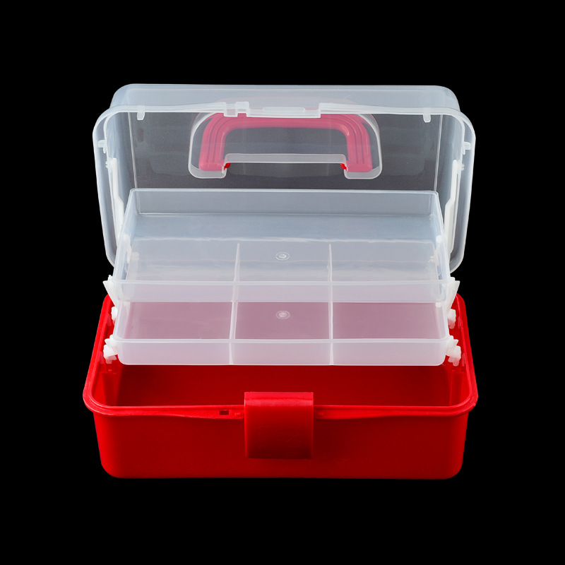 Image 2 - Hand held Desktop Nail Art Empty Storage Box Plastic Scissors Makeup Organizer Jewelry Nail Polish Container Manicure Tool Case-in Nail Art Equipment from Beauty & Health