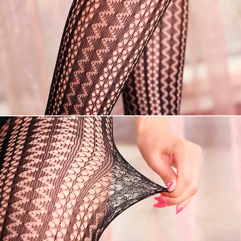 fa49895cc ... LIMSISNIW Thin Looking Fashion Woman Sexy Fishnet Tights with Striped  and Wave Pattern Ladies Tattoo Net
