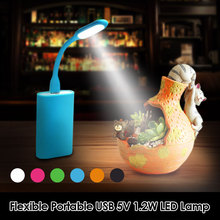 цена на Flexible Portable USB 5V 1.2W LED Lamp For Xiaomi Power bank Computer Notebook Mini USB table lights Protect Eye Lights Gadget