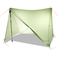 20D Double Side Silicon Coated Nylon Ultra Light Tarp Outdoor Camping Shelter Rainfly