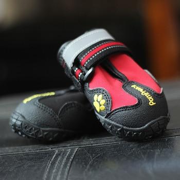 Waterproof Fabric Pu Leather 4pcs Dog Shoes Dog Shoes