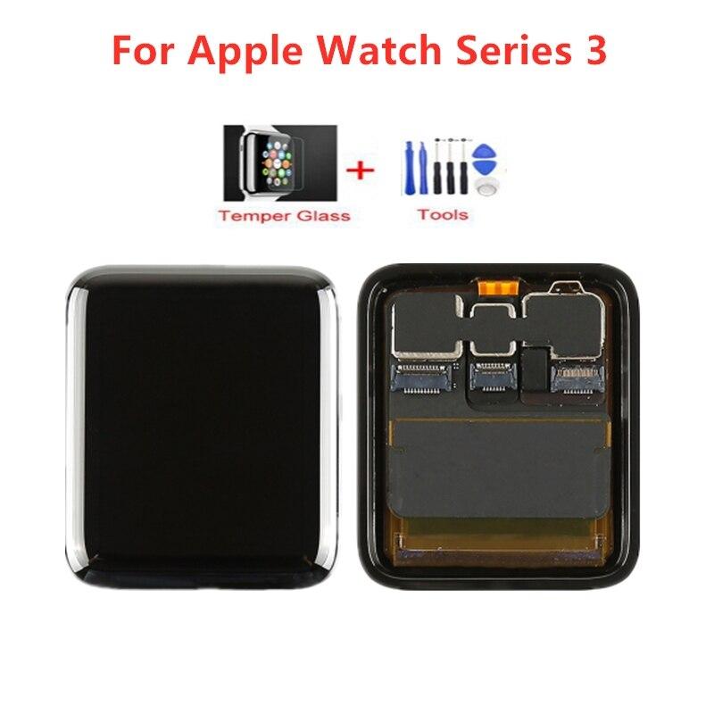D'origine Pour Apple Montre Série 3 LCD Affichage à L'écran Tactile Digitizer Series3 38mm/42mm Remplacement + Trempé verre + Outils