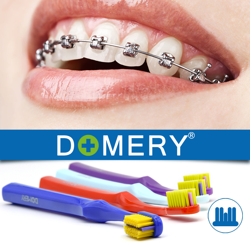 DOMERY 2018 New Arrival U-shaped Orthodontic Toothbrush Soft Bristle teeth brush brace teeth toothbrush small head braces image