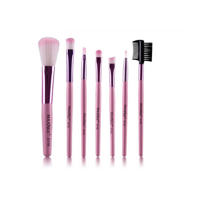 7 unids/kits de Maquillaje Cepillos Cosméticos Establece Pincel de Maquillaje Pr