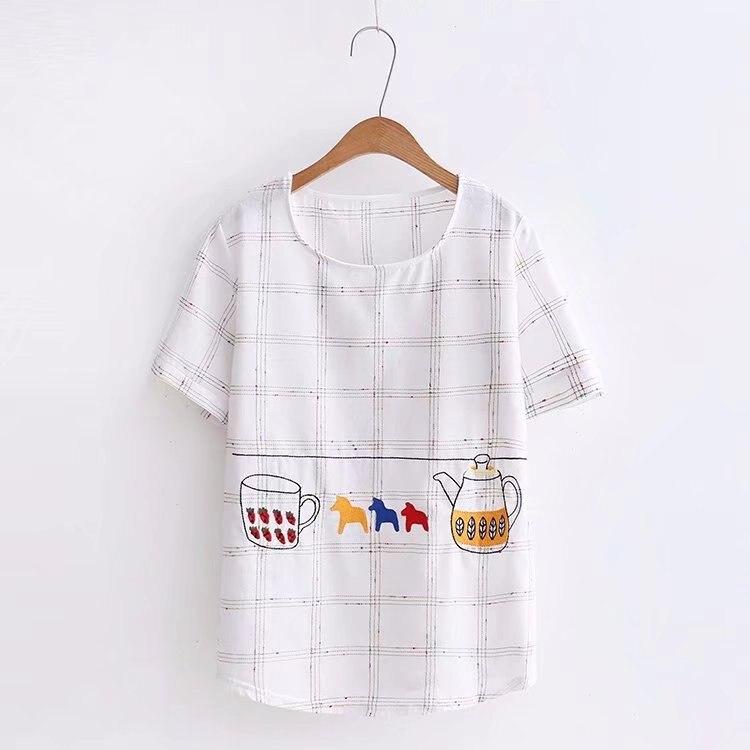2018 del Nuovo Stampato Donne T-Shirt Casual Tee Magliette e camicette degli studenti allentato montaggio Estate Manica Corta Donna T shirt Abbigliamento Donna