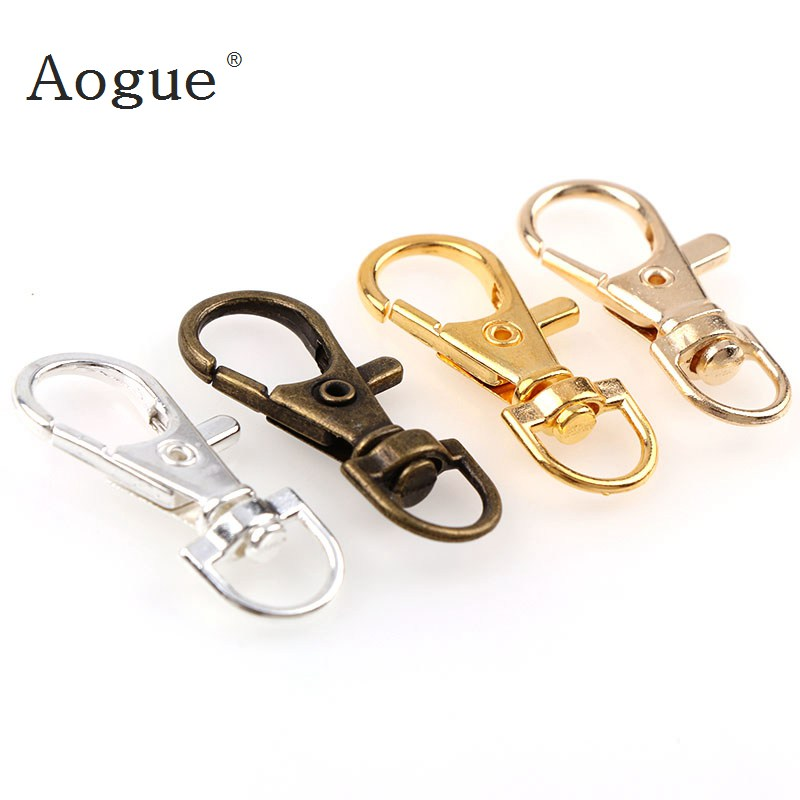 10pcs/lot 15x35mm Classic Keychain Swivel Lobster Clasp Clips Hook Key Chain Split Key Ring for bag Belt dog chains 50pc 9 12mm stainless steel lobster swivel clasp for key ring necklace chain gold bronze silver color alloy lobster clasp