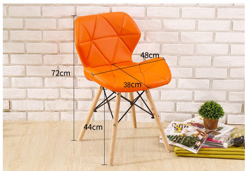 72*48*38CM PU Leather Dining Chair Fashion Conference Meeting Chair Modern Computer Backrest Chair designer chair computer chair synthetic resin and metal production out of fashion chair modern