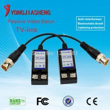 Good quality up to 600m Male BNC connector video balun passive Video Balun With Cable For CCTV Camera