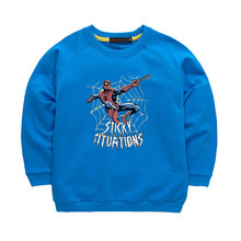 Cool Fashion Boys kids Clothes Spider man Printed Long T shirt Spring Autumn Long Sleeve Sweatshirt Hoodies Tops
