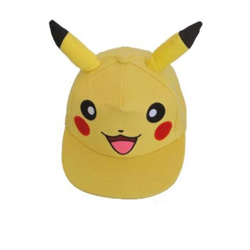 Kawaii Pokemon Pikachu Hat Baseball Cap for Male Female Men's Women's Good Quality Mesh Hats For Gift 9z new cartoon pikachu cosplay cap black novelty anime pocket monster ladies dress pokemon go hat charms costume props baseball cap