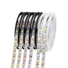 Bande lumineuse RGB RGBW RGBW ww, étanche 1 rouleau, 5M, 12V LED, 5050, ruban lumineux, rose glace bleu rouge vert, lampe à LED, pour la décoration intérieure de vacances