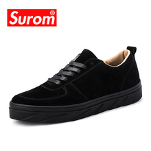 SUROM Brand Men Casual Shoes 2018 New Flock Shoes Lace up Skateboard Sneakers Breathable Tenis Shoes Comfortable Krasovki(China)